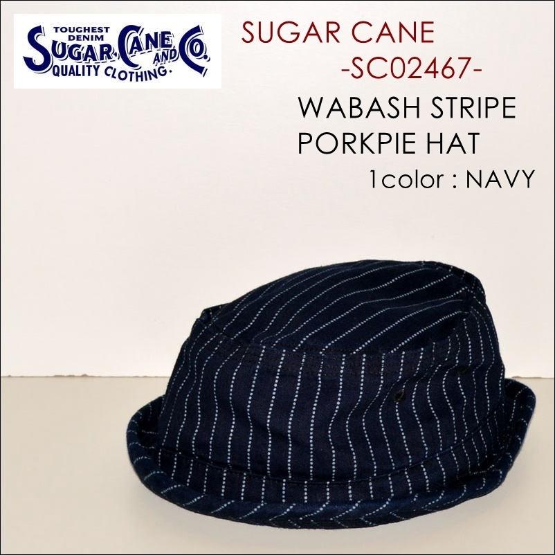 """東洋エンタープライズ、SUGAR CANE(シュガーケーン)、""""SC02467""""、ウォバッシュストライプポークパイハット [小物][帽子]"""