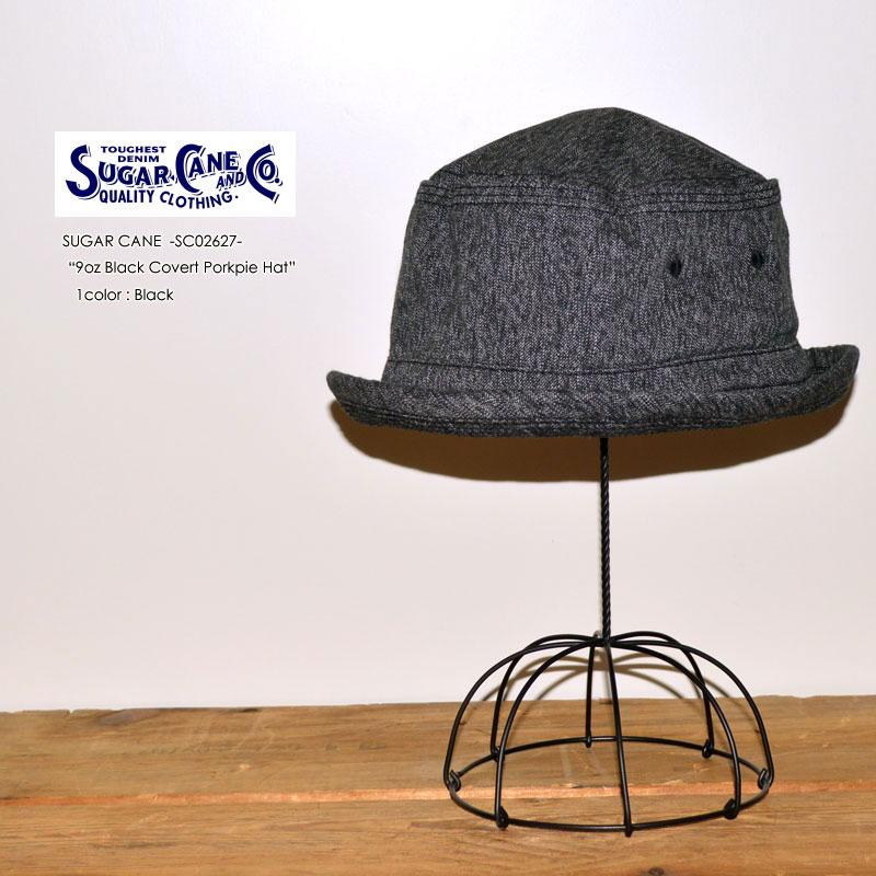 """東洋エンタープライズ、SUGAR CANE シュガーケーン、""""SC02627""""、9oz ブラックコバートポークパイハット [小物][帽子]"""
