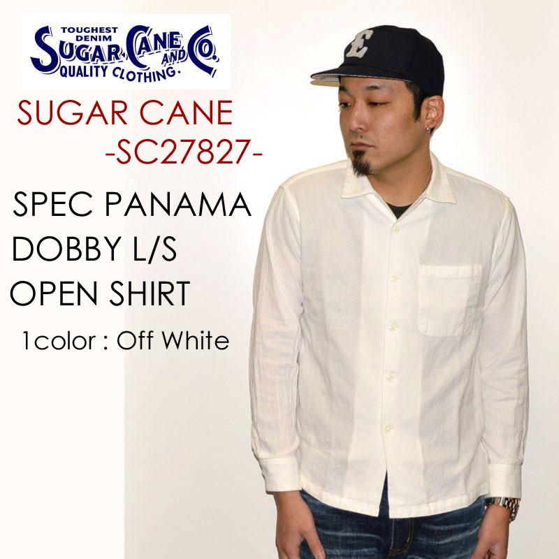 """東洋エンタープライズ SUGAR CANE Light シュガーケーンライト、""""SC27827""""、パナマドビーオープンシャツ [L/Sシャツ]"""
