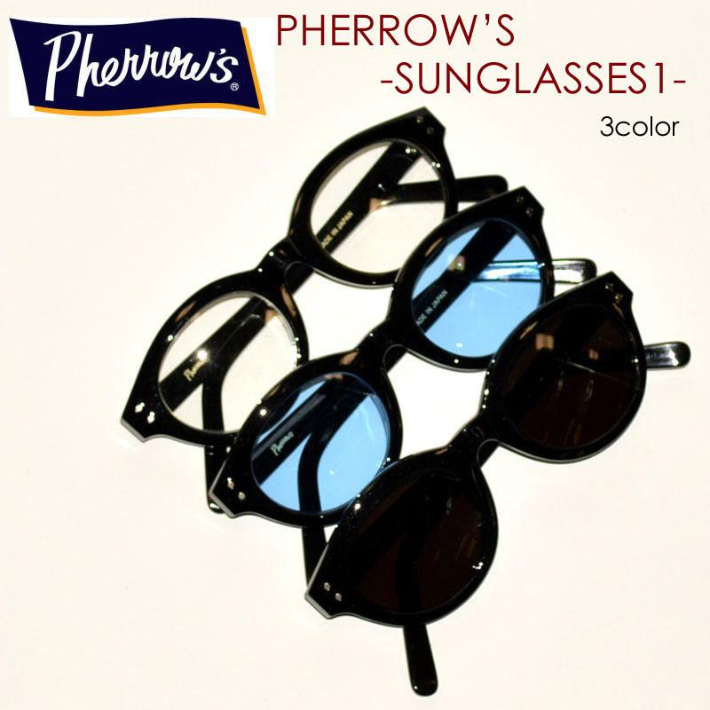 "PHERROW'S フェローズ、""SUNGLASSES-1""、ボストン型 サングラス [小物]"
