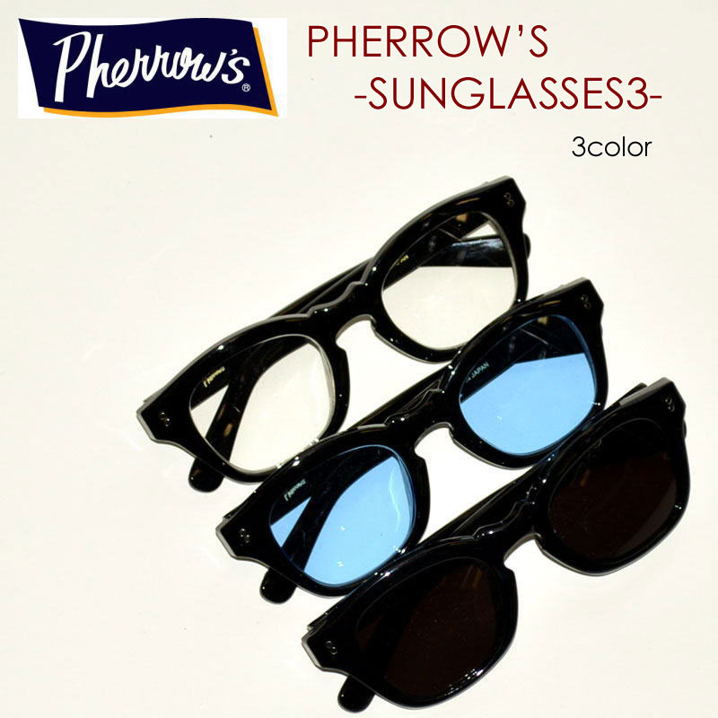 "PHERROW'S フェローズ、""SUNGLASSES-3""、ボストン型 サングラス [小物]"
