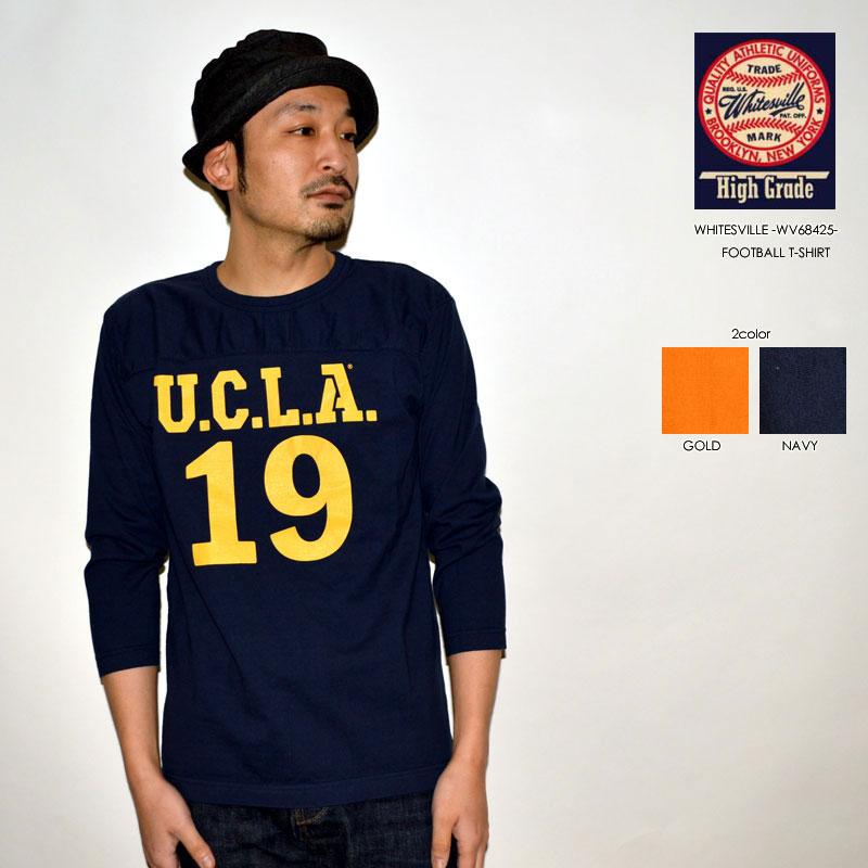 """SALE!! \9,790-⇒\5,874-!! 40%OFFセール!! 東洋エンタープライズ、WHITESVILLE ホワイツビル、""""WV68425""""、L/SフットボールTee """"UCLA"""" [L/STee]"""