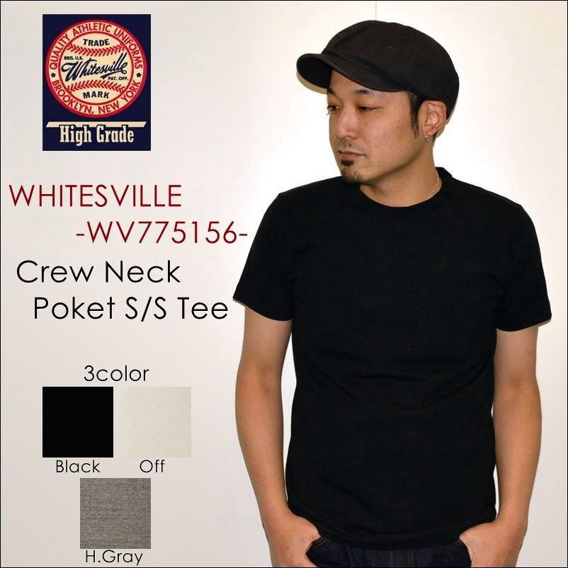 """東洋エンタープライズ、WHITESVILLE ホワイツビル、""""WV77516""""、クルーネックポケットS/STee [S/STee][無地Tシャツ]"""