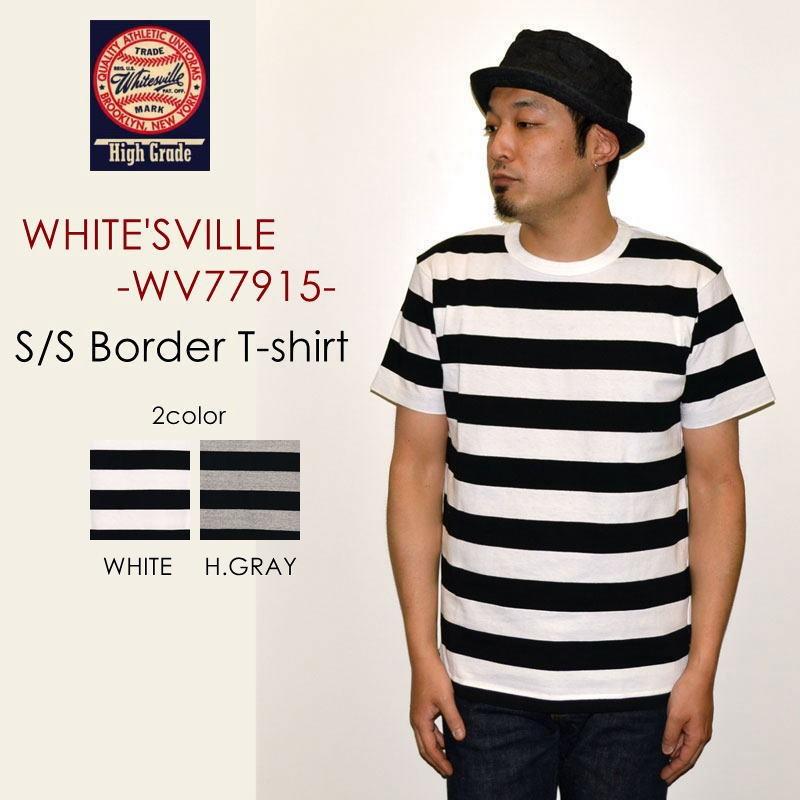 """SALE!! \6,372-⇒\4,460-!! 30%OFFセール!! 東洋エンタープライズ、WHITESVILLE ホワイツビル、""""WV77915""""、S/SボーダーTee [S/STee]"""