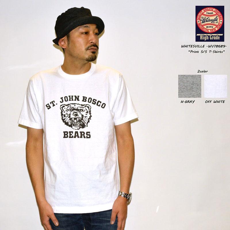 """東洋エンタープライズ WHITESVILLE ホワイツビル """"WV78689"""" クルーネックプリントS/STee """"BEARS"""" [S/STee]"""
