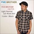 """FIVE BROTHER ファイブブラザー、""""151719""""、S/Sライトネルワークシャツ [S/Sシャツ]"""