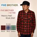 """FIVE BROTHER ファイブブラザー、""""151740""""、ヘビーネルワークシャツ [L/Sシャツ]"""