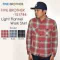 """SALE!! \8,532-⇒\5,972-!!通常価格より30%OFFセール!! FIVE BROTHER ファイブブラザー、""""151744""""、ライトネルワークシャツ [L/Sシャツ]"""