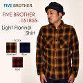 "FIVE BROTHER ファイブブラザー、""151855""、ライトネルワークシャツ [L/Sシャツ]"