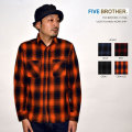 """FIVE BROTHER ファイブブラザー、""""151940""""、ライトフランネルワークシャツ [L/Sシャツ]"""