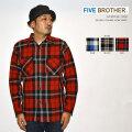 """FIVE BROTHER ファイブブラザー、""""152050""""、エクストラヘビーフランネルワークシャツ [L/Sシャツ]"""