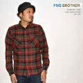 """FIVE BROTHER ファイブブラザー、""""152060""""、ヘビーフランネルワークシャツ [L/Sシャツ]"""