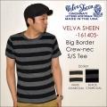 "Velva Sheen ベルバシーン、""161405""、WIDE BORDER S/S CREW NECK TEE ワイドボーダークルーネックS/STシャツ [S/STee]"