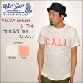 """ファイナルSALE!! \5,940-⇒\3,564-!! 40%OFFセール!! Velva Sheen ベルバシーン、""""161714""""、""""C.A.L.I."""" TEE、プリントS/STシャツ [S/STee]"""