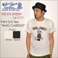 "Velva Sheen ベルバシーン、""161717""、""WHO CARES?"" TEE、プリントS/STシャツ [S/STee]"