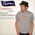 "PHERROW'S フェローズ、""17S-PSST1""、コットンシアサッカーTシャツ [S/STee]"