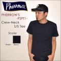 """PHERROW'S フェローズ、""""PSPT1""""、プレーンポケットクルーネックTシャツ  [S/STee]"""
