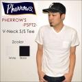 """PHERROW'S フェローズ、""""PSPT2""""、プレーンポケットVネックTシャツ  [S/STee]"""