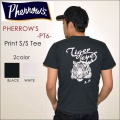 "PHERROW'S フェローズ、""PT6""、DETROIT プリントTシャツ  [S/STee]"