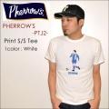 "PHERROW'S フェローズ、""PTJ2""、FOOTBALL プリントTシャツ  [S/STee]"