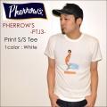 "PHERROW'S フェローズ、""PTJ3""、SURF プリントTシャツ  [S/STee]"