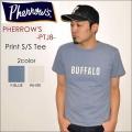 "PHERROW'S フェローズ、""PTJ8""、BUFFALO プリントTシャツ  [S/STee]"