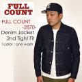 """FULLCOUNT フルカウント、""""2870""""、DENIM JACKET 2nd TIGHT FIT (2nd MODEL)、デニムジャケット2ndタイトフィット [アウター][Gジャン][2ndモデル]"""