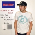 "ファイナルSALE!! \4,104-⇒\2,462-!! 40%OFFセール!! DUBBLE WORKS ダブルワークス DUBBLEWORKS、""33005 AIR FORCE ACADEMY""、プリントS/STee [S/STee]"