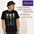 "SALE!! \4,860-⇒\3,888-!! 20%OFFセール!! DUBBLE WORKS ダブルワークス、""33005 DANCING SKELETON""、プリントS/STee [S/STee]"