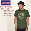 "DUBBLE WORKS ダブルワークス、""33005 HILL ELEMENTARY""、プリントS/STee [S/STee]"