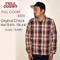 "FULLCOUNT フルカウント、""4005""、ORIGINAL CHECK NEL SHIRTS ""SKUNK"" オリジナルチェックネルシャツ [L/Sシャツ]"