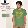 "WAREHOUSE ウエアハウス、""4064 GRUNDY COUNTY""、プリントS/STee [S/STee]"