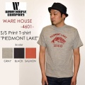 "WAREHOUSE ウエアハウス、""4601 PIEDMONT LAKE""、プリントS/STee [S/STee]"