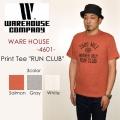 "WAREHOUSE ウエアハウス、""Lot 4601 RUN CLUB""、プリントS/STee [S/STee]"