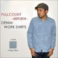 """ネット本店限定価格!! \19,224-⇒\15,379-!!通常価格より20%OFFセール!! FULLCOUNT フルカウント、""""4890BW""""、DENIM WORK SHIRTS、デニムワークシャツ [L/Sシャツ]"""