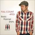 """FULLCOUNT フルカウント、""""4953""""、BASIC NELL SHIRTS、ベーシックネルシャツ [L/Sシャツ]"""