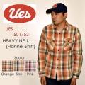 """UES ウエス、""""501753""""、ヘビーネルシャツ [L/Sシャツ]"""