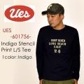 """UES ウエス、""""601756""""、SURF RIDER インディゴTシャツ [L/STee]"""