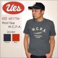 "UES ウエス、""651736""、W.C.P.A. Tシャツ [S/STee]"