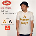 "UES ウエス、""651902""、A HAPPY DAY Tシャツ [S/STee]"