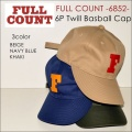 "FULLCOUNT フルカウント、""6852""、6PANEL TWILL BASEBALL CAP、6パネルツイルベースボールキャップ [小物][帽子]"