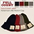 """FULLCOUNT フルカウント FULL COUNT、""""6859""""、FISHERMAN'S RIB WATCH CAP、フィッシャーマンズリブワッチキャップ [小物][帽子]"""