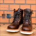 """Slow Wear Lion(スローウェアライオン)、""""OB-8593G""""、レザープレーンMIDブーツ [靴]"""