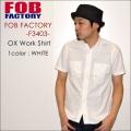 """FOB FACTORY、""""F3403""""、H/S オックスフォードワークシャツ [S/Sシャツ]"""