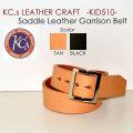 """KC's LEATHER CRAFT ケーシーズレザークラフト、""""KID510""""、サドルレザーギャリソンベルト [ベルト]"""