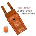 """UES ウエス、""""PP-2LN""""、レザーフラップ付き携帯ケース [小物]"""