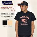 "PHERROW'S(フェローズ)、""PT2""、トレードマークTee [S/STee]"