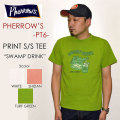 "PHERROW'S フェローズ、""PT6""、SWAMP DRINK プリントTシャツ  [S/STee]"