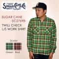 """東洋エンタープライズ SUGAR CANE シュガーケーン SUGARCANE、""""SC27698""""、ツイルチェックワークシャツ [L/Sシャツ]"""