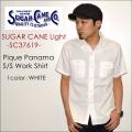 """SUGAR CANE Light シュガーケーンライト、""""SC37619""""、ピケパナマS/Sワークシャツ [S/Sシャツ]"""